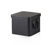 Black leather box Royalty Free Stock Photo