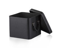 Black leather box Royalty Free Stock Photos