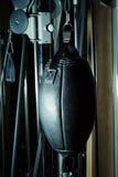 Black leather boxing punching bag Royalty Free Stock Photo