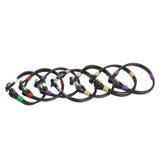 Black leather bracelets Royalty Free Stock Photo