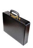 Black leather Briefcase with combination lock Stock Photography