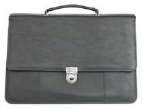 Black leather briefcase Stock Photos