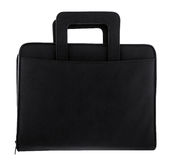 Black leather briefcase Stock Photos