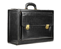 Black leather briefcase Stock Image