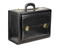 Black leather briefcase Royalty Free Stock Photo