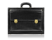 Black leather briefcase Royalty Free Stock Photography