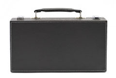 Black leather briefcase Stock Images