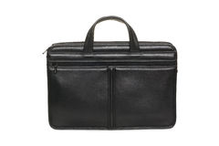 Black leather business briefcase Stock Images