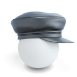 Black leather cap Royalty Free Stock Photography