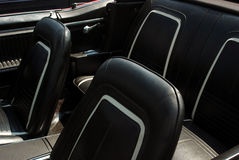 Black Leather Car Interior Stock Image