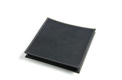 Black leather case Stock Photography