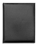 Black Leather case notebook isolated Stock Image