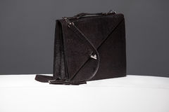black leather case Stock Photos