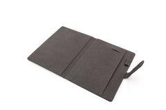 Black leather case . Royalty Free Stock Photo