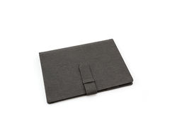 Black leather case on white background. Stock Image