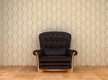 Black leather chair Royalty Free Stock Image