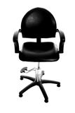 Black leather chair Royalty Free Stock Photo