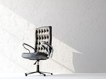 A black leather chair Stock Photo