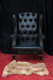 Black leather chair Royalty Free Stock Images