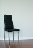 Black leather chair Stock Photography