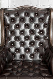 Black leather chair Stock Photo