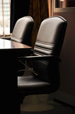 Black leather chairs Stock Photography