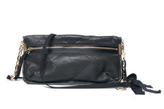 Black leather clutch Royalty Free Stock Photo