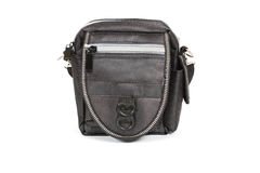 Black leather coin purse Stock Image