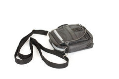 Black leather coin purse Stock Photos