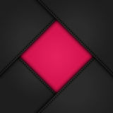 Black leather corners on pink2 Royalty Free Stock Photography