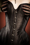 Black leather corset Stock Image