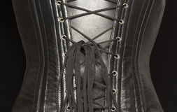 Black leather corset. Royalty Free Stock Photos