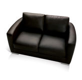 Black Leather Couch Stock Images