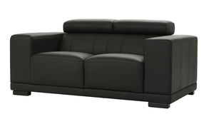 Black leather couch Royalty Free Stock Photography