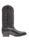 A black leather cowboy boot Stock Image