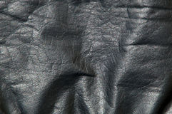 Black leather cowhide background Royalty Free Stock Photography