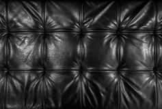 Black leather cushion Stock Photo