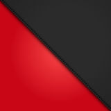 Black leather diagonal panel background on red Royalty Free Stock Photos