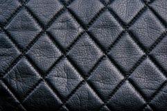 Black leather diamon pattern Stock Photo