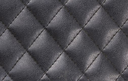 Black Leather Diamond shape Pattern Royalty Free Stock Photo