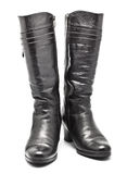 Black Leather Female Boots Stock Image