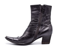 Black Leather Female Boots Royalty Free Stock Photos