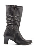 Black Leather Female Boots Stock Images