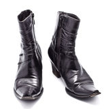 Black Leather Female Boots Stock Photo