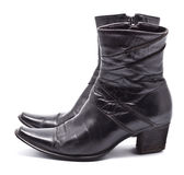 Black Leather Female Boots Royalty Free Stock Photo