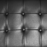 Black leather finished furniture Royalty Free Stock Images