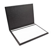 Black leather folder Stock Photos