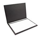 Black leather folder Stock Photos