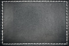 Black leather frame Royalty Free Stock Images