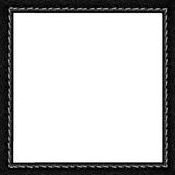 Black leather frame Royalty Free Stock Image